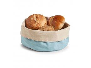 Kontejner na chléb, Košík bavlny, kulatý, modrý, Ø 20 cm, ZELLER