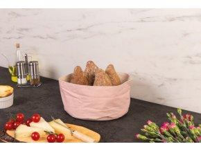 Kontejner na chléb, Košík bavlny, kulatý, růžový, Ø 25 cm, ZELLER