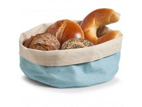 Kontejner na chléb, Košík bavlny, kulatý, modrý, Ø 25 cm, ZELLER