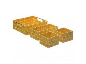 LISA Storage Organizers, balení 4, velikost M, žlutá