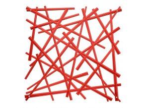 Dekorace na zeď STIXX, 4 ks -  barva červená, KOZIOL