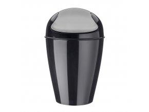 Odpadkový koš DEL M, 12 l- barva černá, KOZIOL