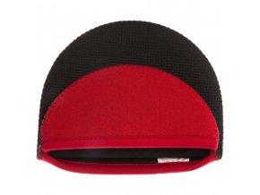 Kuchyňské rukavice, silikonová rukojeť, ochranná noha, červená