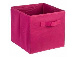 Box na skladování textilu, Krabice na oblečení, 24 x 34 cm, Fuchsie
