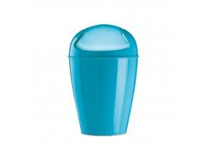 Kancelářský odpadkový koš v tyrkysové barvě, DEL S, 5 l,  KOZIOL