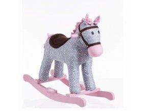 Houpací kůň, houpací křeslo, barva šedá