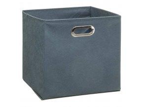 Krabice na textil, krabička na oblečení, 31 x 31 cm, šedá