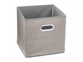 Krabice na textil, krabička na oblečení, 31 x 31 cm, béžová
