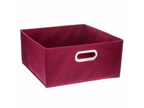 Krabice na textil, krabička na oblečení, 31 x 15 cm, červená