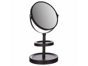 Kosmetické zrcadlo Metal Koupelna Zrcadlové šperky Organizér, 2v1, černá