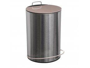 Koš na odpadky z kovu ve stříbrné barvě, otevřený s nohou, 5l
