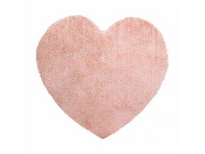 Dekorativní polštář se srdcem, 80 x 74 cm, růžový