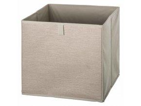 Skladovací kontejner béžová kostka, 31x 31x 31cm