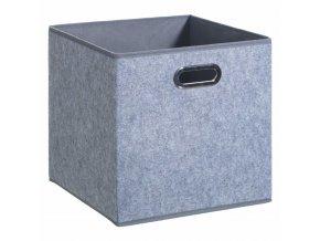 Skladovací kontejner šedá kostka s rukojetí, 31x 31x 31cm