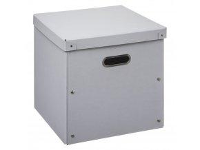Kartonová krabice s víkem, skladovací krabička, 31 x 31 cm, bílá