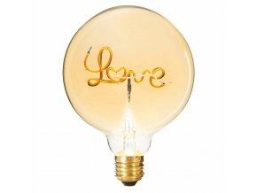 Láska žárovka, LED osvětlení s originálním vzorem, nápis lásky