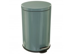 Kulatý odpadkový koš, nerezová ocel, tmavě zelený lesk, s pedálem, 20l