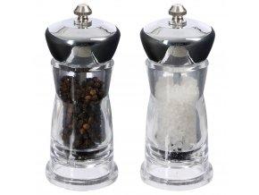 Akrylátové mlýnky na sůl a pepř