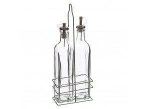 Sada pro olivový olej a ocet, sada 2 skleněných dávkovačů, 2 x 500 ml