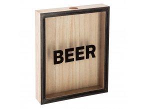 Dřevěná krabice na čepice, pivo, Atmosphera créateur d'intérieur, dekorativní nádoba na sběr čepic