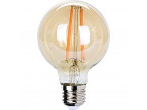 Dekorativní LED žárovka, jantarová dekorace, G80
