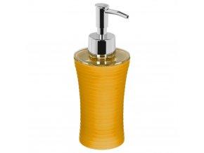 Dávkovač na tekuté mýdlo, barva žlutá s pruhy