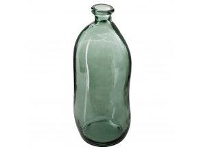 váza nasekaná, skleněná láhev, barva khaki, 51 cm
