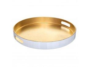 Podnos, kulatý, zlatý, 35 cm