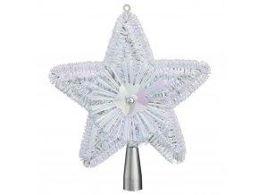 Christmas Tree Star Bílá Dekorativní Stříbrná držák