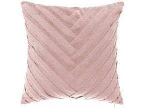 Dekorativní polštář pro obývací pokoj Ložnice Velurové růžové 40 x 40 cm