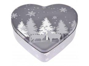 Srdce dort box, cookie box, vánoční téma