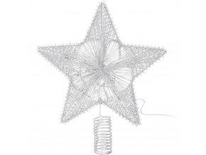 LED hvězda vánočního stromku, podsvícená, bavlna, 30 cm
