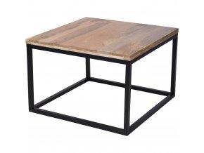 Dřevěný konferenční stolek, mango dřevo, 70 x 70 x 48 cm