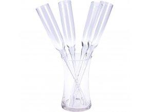Sklenice na šampaňské ve skleněné nádobě, sada 5