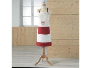 Dámská kuchyňská zástěra 60 x 60 cm, MONALISA RED, červená