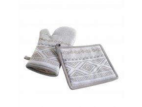 Kuchyňská rukavice + noha, SAMOS, barva šedá