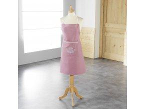 Dámská kuchyňská zástěra, 80 x 60 cm, růžová