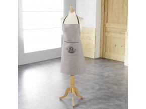 Dámská kuchyňská zástěra 80 x 60 cm, šedá