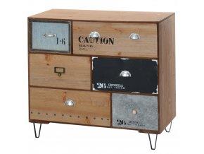 Skříňka INDUSTRIAL LOOK - úložný box se 6 zásuvkami Home Styling Collection
