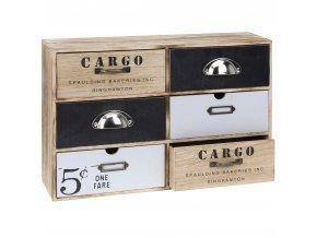 Skříňka CARGO  - úložný box se 6 zásuvkami