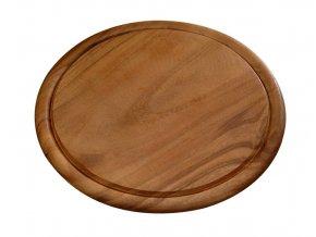 Acacia prkénko na dřevo, kulatý sloužící stojan pro kuchyň