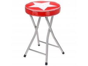 červené židle STAR, kov, 48 x 30 cm