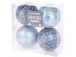 Vánoční ozdoby soumraku, 4, průměr 10 cm, modrá