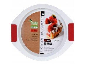 Kruhová pečící forma - keramický povrch, silikonové úchyty EH Excellent Houseware