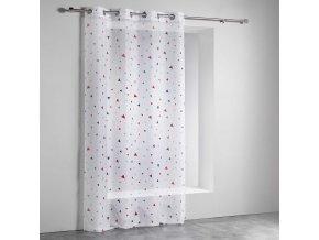 Bílé závěsy pro děti s očkami TEDDY, 140 x 240 cm