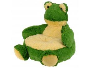 Plyšová hračka - plyšové sedátko s opěradlem pro děti