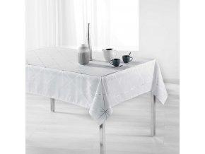 Bílý ubrus QUADRIS 150 x 300 cm