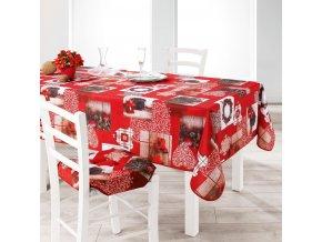 Vánoční ubrus FESTIVA 150 x 300 cm, červený