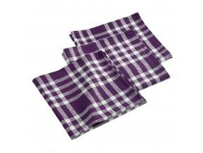 Ubrousky 3 kusy TRADTRIO, fialová barva, 45 x 45 cm
