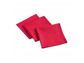 Ubrousky AUBELINE, 40 x 40 cm, červená barva, 3 ks